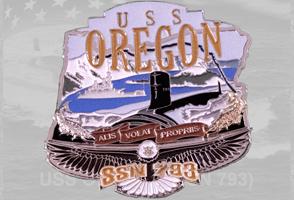 USS Oregon Christening Coin